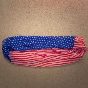 Accessories - Fourth of July American Flag Circle Scarf